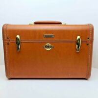 Vintage Samsonite Shwayder Bros. Cosmetic Train Travel Luggage Case With Key