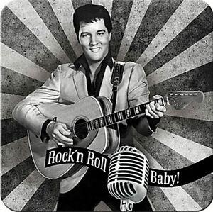 Nostalgic Art dessous de Verre Métalliques Elvis Jupe ´N Rouler Bébé 9 x 9