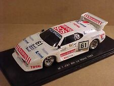 Spark 1/43 Resin BMW M 1 8th Place 1982 LeMans, SOS 99.99 - Tasaglass #61 #S1585