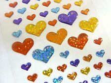 Pequeños brillantes corazón Pegatinas Niños Etiquetas Para Decoración Artesanal card-making cry02