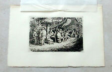 Adriaen Ostade etching 'The Fair'  Gsell collection1872