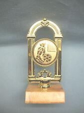 SOCCER metal insert  trophy wood base