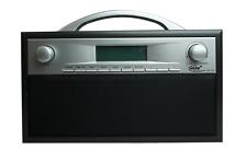 Elta DAB Radio Mp3 Wecker Lcd-display Holzgehäuse Schwarz/grau