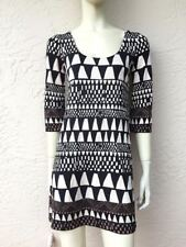 DIANE VON FURSTENBERG LAETITIA SILK ART DECO DRESS SZ 2