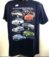 T-Shirt with Ford Foxbody Mustang Generations
