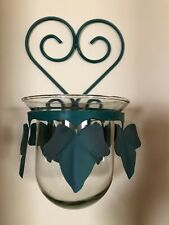 Homco /Home Interior Metal Ivy With Glass Potpourri / Candle / Flower Holder