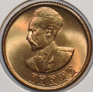 Ethiopia 1943 ~44 10 Cents Lion animal 297445 combine