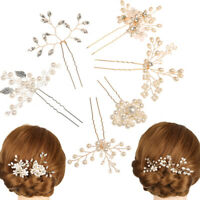 Jewelry Accessories Hairpins Bridal Clips Pearl Hair Pin  Bridesmaid Tiara