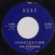 THE PYRAMIDS: Penetration / Here Comes Marsha BEST Surf USA Orig 45 VG+ Rare