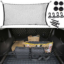 Car Nylon Mesh Hatchback Rear Trunk Luggage Storage Organizer Net Plus Mounting