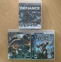 Lot Of 3 Sony Playstation PS3 Games. Lost Planet 2/Defiance/Brutal Legend.