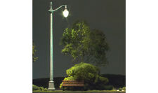 3 N-SCALE ARCHED CAST IRON ST. LIGHTS-JUST PLUG SYSTEM (#5639) WOODLAND SCENICS