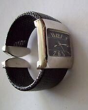 PREMIER DESIGNS Black Snake Skin Cuff Watch