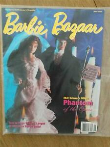 Barbie Bazaar Magazine June 1998 New in Plastic Sleeve Phantom of the Opera
