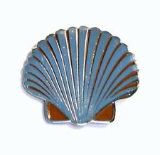 Scallop Shell Metal Enamelled Pin Badge Lapel Badge XJKB2-26