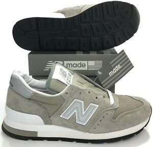 New Balance 995 Made in USA Gray White Silver Shoes M995GR Men's 6 (Women 7.5)