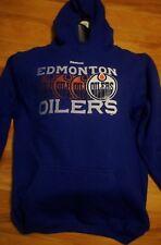 Edmonton Oilers Youth XL Pullover Graphic Hoodie NHL Reebok Blue