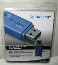 New Factory Packaged Blue TRENDnet Compact Bluetooth USB Adapter TBW-105UB