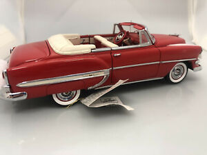 🔴 YE 33   Franklin Mint 1954 Chevy BEL AIR Convertible in Red  RARE NOS