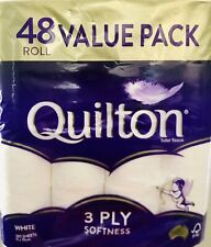 48x Quilton Toilet Paper Tissue Rolls 3-Ply 180 Sheets - Free postage Best Price