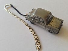Ford 100E 4 Door Saloon ref82   FULL CAR on a Pattern bookmark with cord