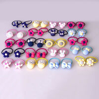 40 Pcs/Set Elastics Hair Ties Head Rope Colorful Hair Band for Toddler Baby Girl