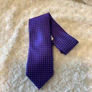 Ted Baker London bright purpleblue red green artsy polka dot silk neck tie