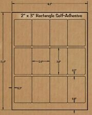 BROWN KRAFT LABELS- 2 x 3 RECTANGLE - Clamshell TART Labels, Candle Making