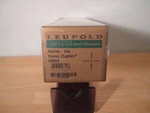 LEUPOLD VX1  2 - 7 x 33 SHOTGUN SCOPE HEAVY DUPLEX  #58800  BRAND NEW