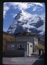1968 kodachrome photo slide  Switzerland  kleine scheidegg Wegnernalp station