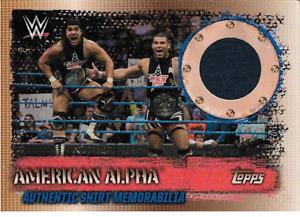 American Alpha Topps WWE Slam Attax 10th Edition Shirt Memorabilia + Cena Flix