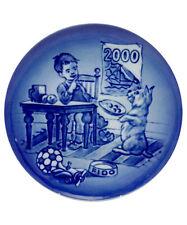 "Bing & Grondahl 2000 Children's Day Plate ""Don't Tell"" Boy & Dog"