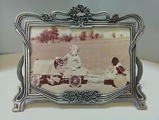 WHOLESALE...Large Rose Pewter Frame/ Floral Frame/ Ribbon Frame (Lot of 3)