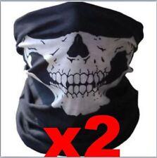 2X Skull Face shield Mask Neck Gaiter Dust Shield Seamless Bandana Balaclava