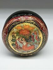 New ListingRussian Lacquer Box from Palekh Troika Vintage Signed Box Lovers