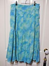 LADIES IQ SMART CLOTHES LABEL BLUE FLARED SKIRT SIZE 12
