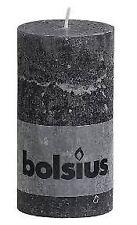 Classic Bolsius Rustic Pillar Candle 130 X 68 Mm Smoky Grey 6 Pcs Bright