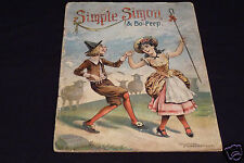 Simple Simon & Bo-Peep, 1896, McLoughlin Bros, incomplete copy, Bo-Peep Series