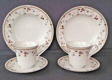 Mikasa Fine China ARIES L9028 2 Soup Bowls/2 Tea Cups & Saucers