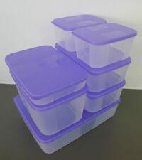 Tupperware FreezerMate Essential Set (7 in 1 - Purple Lids) + Free Shipping