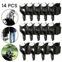 14pcs Golf Club Organizers Clip Power Holder Protect Iron Driver Putter Bag;