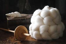 FALKLAND Undyed Combed Top Natural Wool Roving Spinning Felting fiber - 4 oz