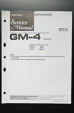 pioneer gm-4 stereo amplifier additional service manual/wiring diagram/ diagram