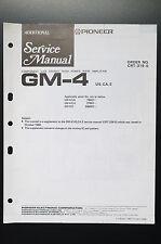 PIONEER GM-4 Stereo Amplifier ADDITIONAL Service-Manual/Schaltplan/Diagram o9