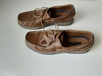 Tommy Hilfiger Size 12 M  Brown Tan Natural  Mens Lace Boat Shoes
