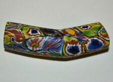 Antique Venetian Multiple Murrine Cane Millefiori Glass Elbow Bead African Trade