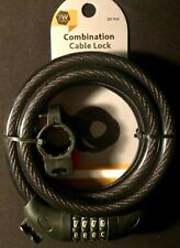 """NEW TUFF WORK 4 DIGIT COMBINATION BICYCLE CABLE LOCK 9/16"""" X 59"""""""