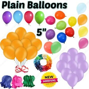 """5""""inch Small Round Best Latex Balloons 100 Quality Standard ballon Colour party"""