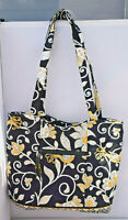 VERA BRADLEY YELLOW BIRD TOTE BAG MULTI-COLOR Yellow, Black & White LNC