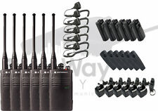 Motorola RDU4100 UHF Business Two-Way Radio Walkie Talkie w/ Speaker Mics 6-PACK